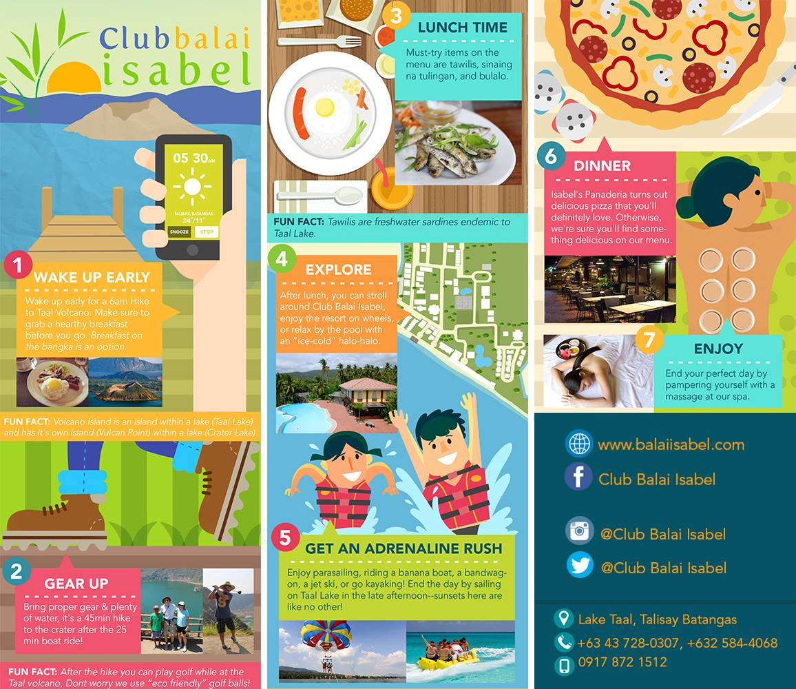 A Day at Club Balai Isabel (Infographic)