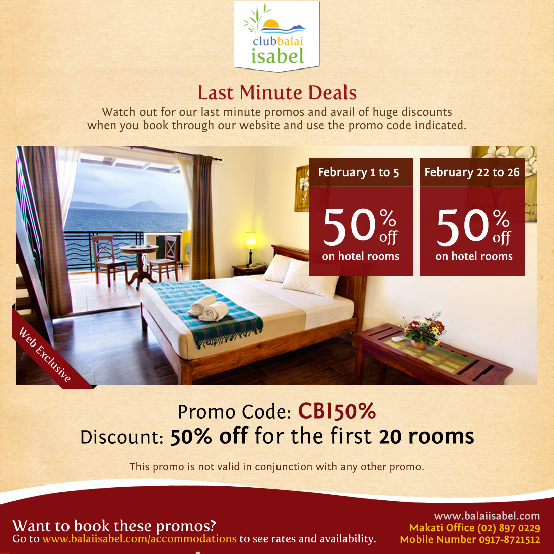 Latest promos special deals great discounts club for Hotel last minute